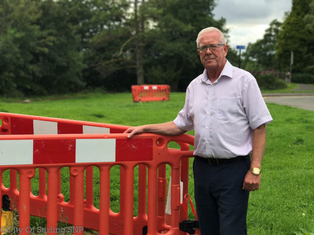 Bruce Crawford concerns on roadworks