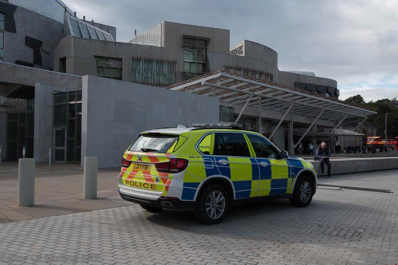 Police Scotland at Holyrood