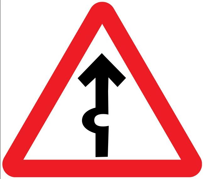 deflection ahead