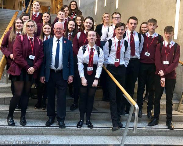 Pupils from St Modans visit the Scottish Parliament